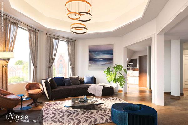 Schillerpromenade - Berlin - Eckzimmer in der neu ausgebauten Dachgeschosswohnung