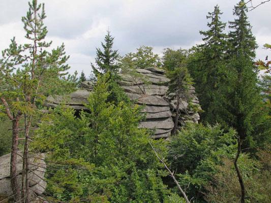 Zum Drei-Brüder-Felsen (Rudolfstein) 7.9.17