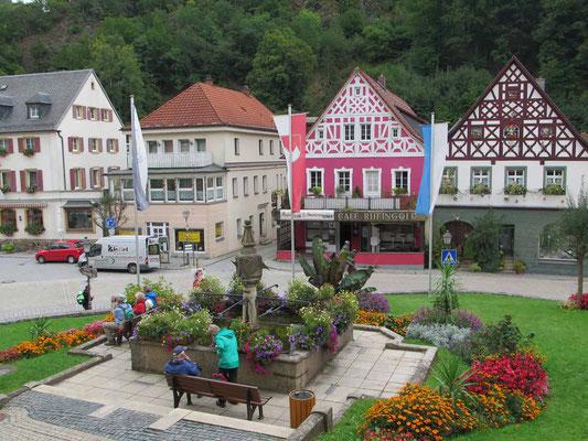 Bad Benerck (Marktplatz) über das Ölschnitztal 8.9.17