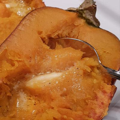 Auch ohne Butter schmeckt Honeynut Kürbis