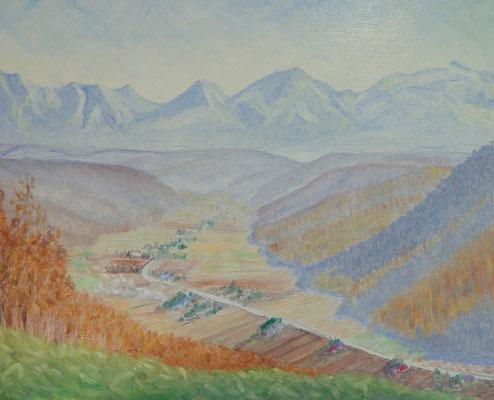 F15 2001.11.23制作 拓魂の丘にてオキキニウシの谷を望む