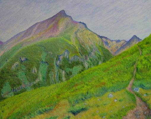 F15 十勝岳雲の平にて、美瑛岳を望む