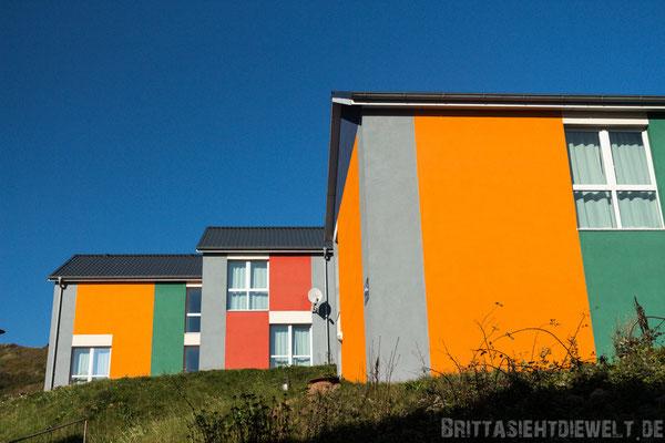 bunte Häuser auf Helgoland