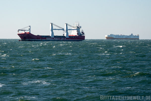 Containerschiffe inder Warteschleife