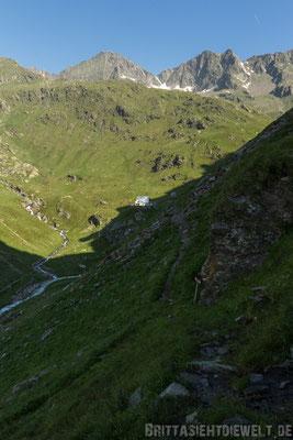 Blick zurück auf die Lodnerhütte