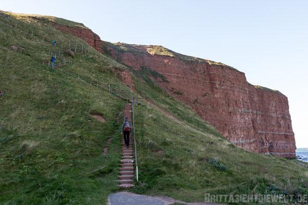 Treppe auf Helgoland