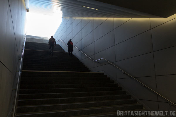 Treppe ans Licht