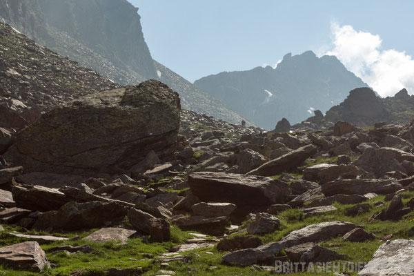 """Zwei """"kleine"""" Wanderer in der Bergwelt der Texelgruppe"""