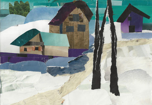 """Nach dem Bild""""Winterlandschaft""""von Gabriele Münter"""