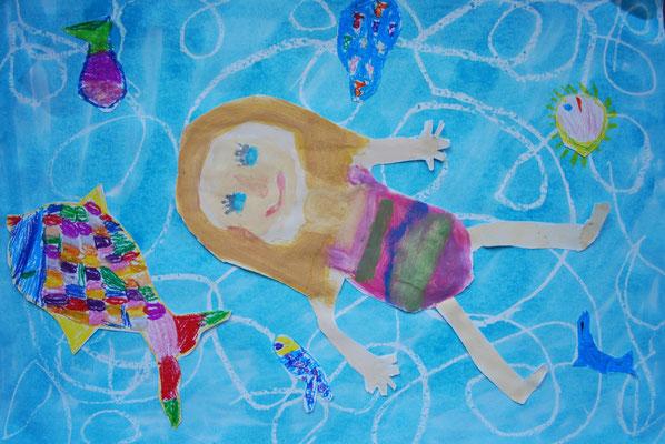 Sommer im Kunstunterricht in der Grundschule - 136s Webseite!