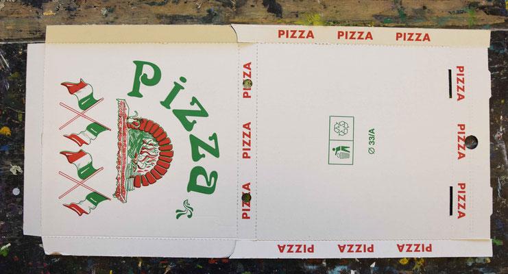 Jeder Schüler/ jede Gruppe erhält einen Pizzakarton.