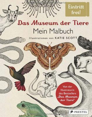Das Museum der Tiere, Mein Malbuch, Prestel, 12,99€