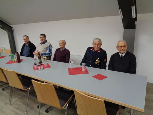 unsere Altkameraden, zuverlässige JHV - Teilnehmer
