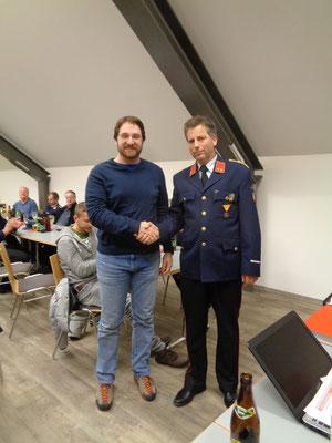 Thomas Eder als neues Mitglied der FF Mitschig