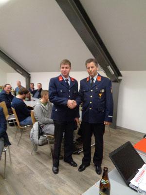Andreas Wastl bei seiner Beförderung zum FM