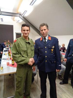 Christof Bachmann und Kommandant Günther Bachmann