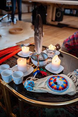 Der Altar und seine spirituellen Aspekte sind wichtig für mich beim Trommelbau