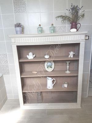 Grand meuble salle de bain relook nadg r d co - Meuble patine blanc ivoire ...