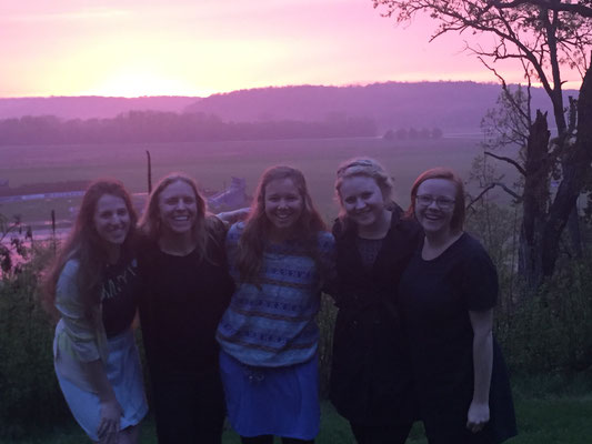 Surprise sunsets on the last days at Luther