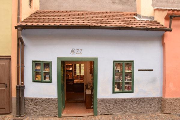 52.Huis in Gouden straatje waar Franz Kafka heeft gewoond