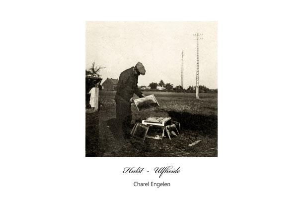 Charel Engelen als imker op zijn boerderij