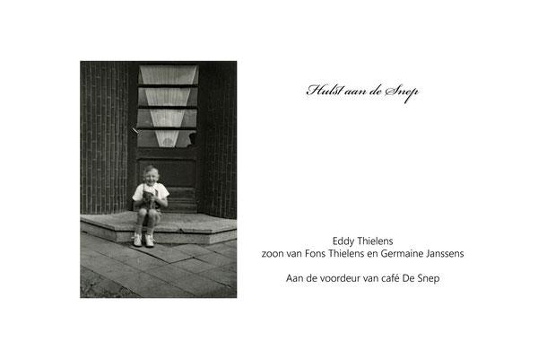 Eddy Thielens voor café De Snep