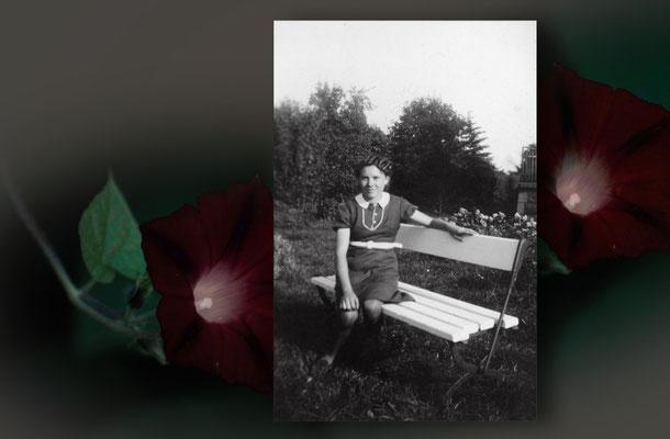 Margriet Beets in de tuin van 't Hof