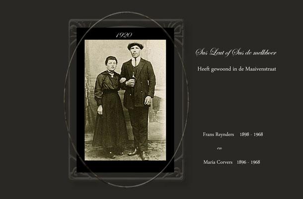 Frans Reynders-Sus leut of Sus de melkboer en Maria Corvers