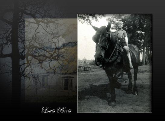 Louis Beets-Met dit paard op de vlucht-oorlog1940-1945