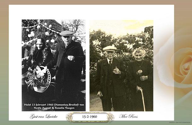 Diamanten bruiloft van August Nuyts en Rosalie Vuegen-Hulst 15 februari 1960
