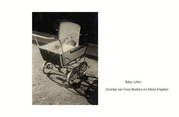 Baby Julien Beckers - zoontje van Fons Beckers en Maria Engelen