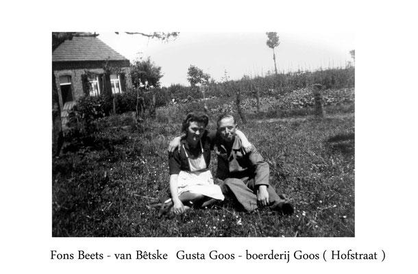 Gusta Goos en Fons Beets-Hulsterstraat/Hofstraat