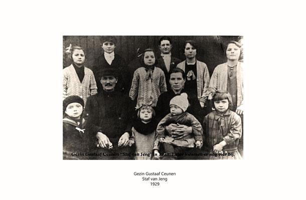 Gezin van Gustaaf Ceunen 1929