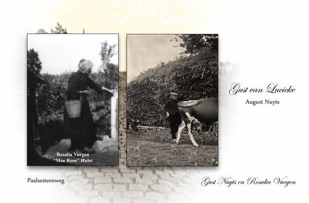 Rosalia Vuegen en Gust Nuyts-Gust van Lucieke-Paalsesteenweg