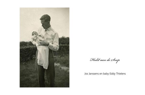 Jos Janssens en baby Eddy Thielens