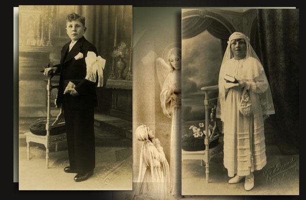Louis en Marie Noels-Oostham-broer en zus