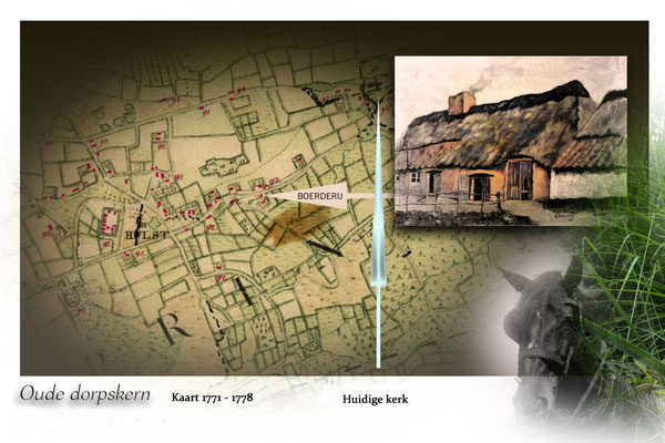 Oude stafkaart van Hulst 1771-1778 / Situatie van boerderij Beets-Noels
