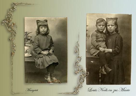 Margriet Beets met rechts Louis en Marie Noels