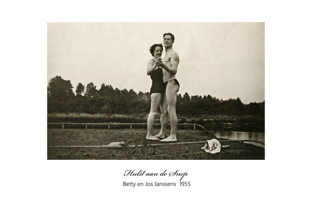 Betty en broer Jos Janssens  1955
