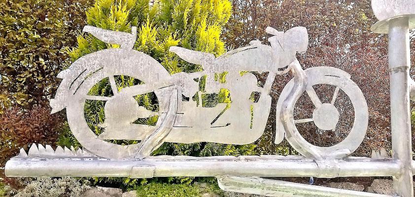 Wetterfahne - Dekoidee Haus Garten Gartendekoration, Deko, Garten, Metall, Zink, Zinkkunst, Kunst aus Zink, Kunst aus Blech, Blechkunst