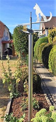 Wetterfahne Hund & Katze - Dekoidee Haus Garten Gartendekoration, Deko, Garten, Metall, Zink, Zinkkunst, Kunst aus Zink, Kupfer, Kupferkunst, Kunst aus Kupfer, Messing, Kunst aus Blech, Blechkunst