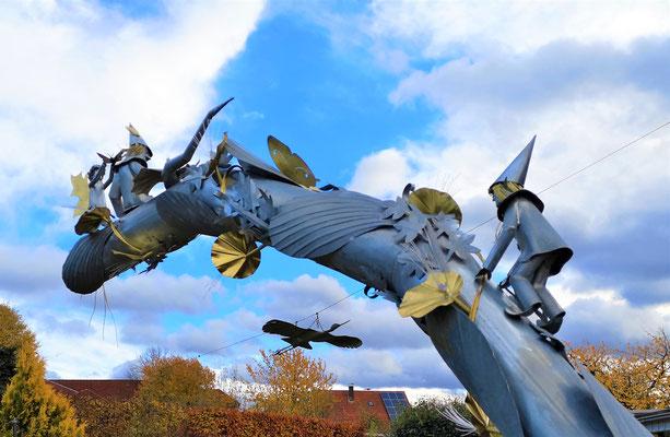 Fantasybogen- Deko, Dekoidee Haus, Metall, Zink, Zinkkunst, Kunst aus Zink, Kupfer, Kupferkunst, Kunst aus Kupfer, Messing, Kunst aus Messing Kunst aus Blech, Blechkunst