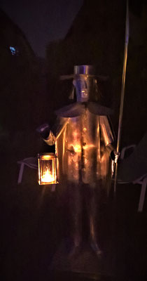 Nachtwächter - Dekoidee Haus Garten Gartendekoration, Deko, Garten, Metall, Zink, Zinkkunst, Kunst aus Zink, Kupfer, Kupferkunst, Kunst aus Kupfer, Messing, Kunst aus Messing Kunst aus Blech, Blechkunst