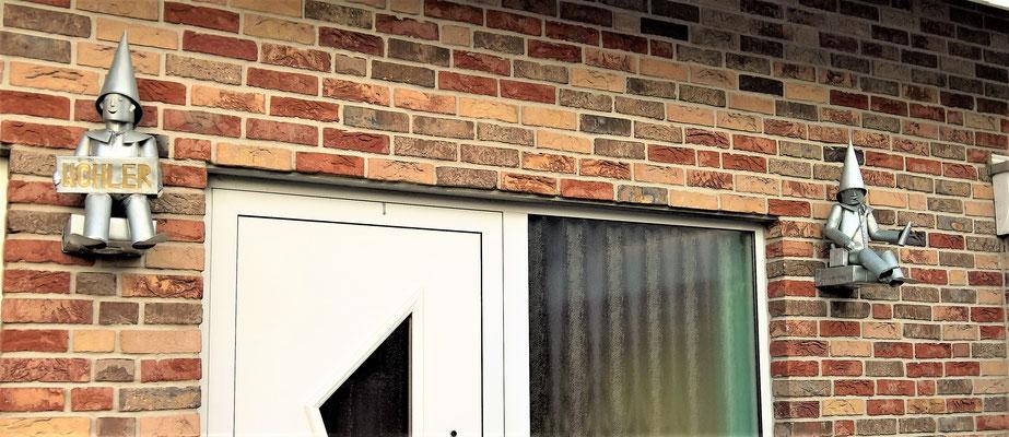 Hauseingangsbeleuchtung mit Name- Dekoidee Haus Garten Gartendekoration, Deko, Garten, Metall, Zink, Zinkkunst, Kunst aus Zink, Messing, Messingkunst, Kupfer, Kupferkunst, Kunst aus Kupfer, Kunst aus Blech, Blechkunst