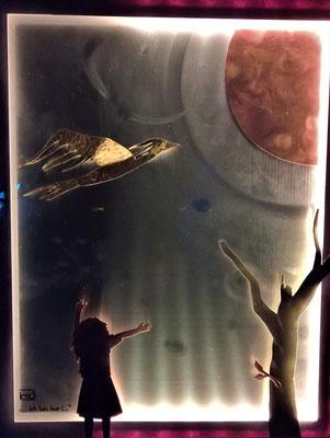 """Bild """"... ich bin hier!"""" - Deko, Dekoidee Haus, Metall, Zink, Zinkkunst, Kunst aus Zink, Kupfer, Kupferkunst, Kunst aus Kupfer, Messing, Kunst aus Messing Kunst aus Blech, Blechkunst"""
