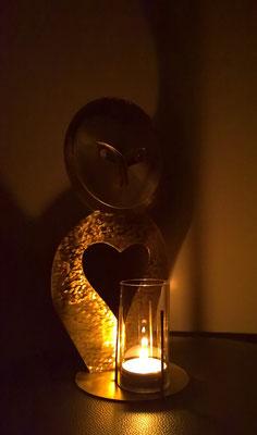 Eule Windlicht - Dekoidee Haus Garten Gartendekoration, Deko, Garten, Metall, Zink, Zinkkunst, Kunst aus Zink, Kupfer, Kupferkunst, Kunst aus Kupfer, Messing, Kunst aus Messing Kunst aus Blech, Blechkunst