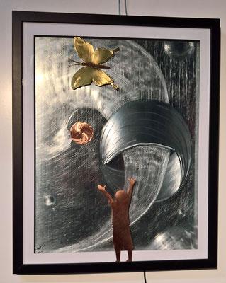 """Bild """"Hallo"""" - Deko, Dekoidee Haus, Metall, Zink, Zinkkunst, Kunst aus Zink, Kupfer, Kupferkunst, Kunst aus Kupfer, Messing, Kunst aus Messing Kunst aus Blech, Blechkunst"""