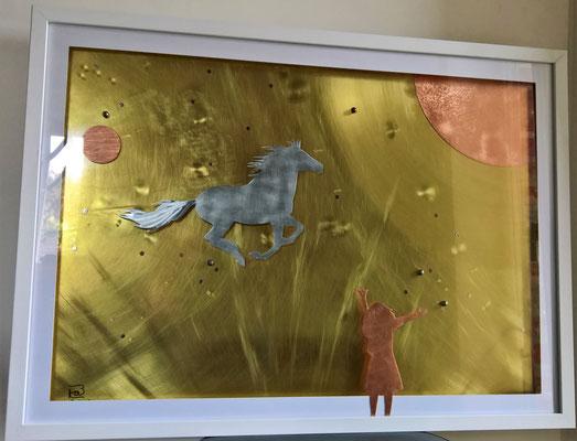 """Bild """"... nimm mich mit!"""" - Deko, Dekoidee Haus, Metall, Zink, Zinkkunst, Kunst aus Zink, Kupfer, Kupferkunst, Kunst aus Kupfer, Messing, Kunst aus Messing Kunst aus Blech, Blechkunst"""