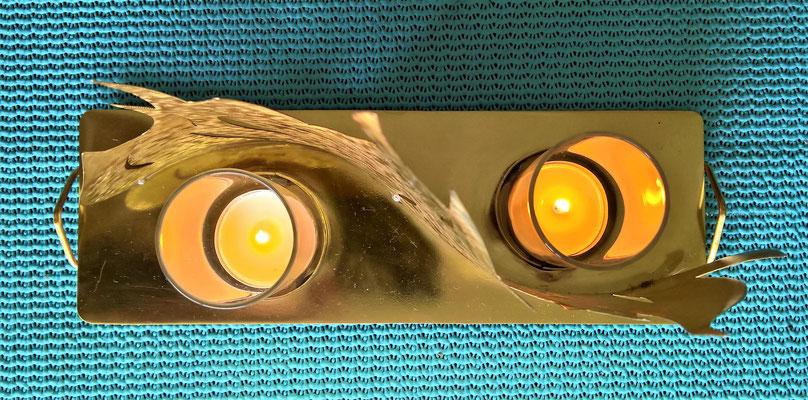 Flamme Windlicht - Dekoidee Haus Garten Gartendekoration, Deko, Garten, Metall, Zink, Zinkkunst, Kunst aus Zink, Kupfer, Kupferkunst, Kunst aus Kupfer, Messing, Kunst aus Messing Kunst aus Blech, Blechkunst