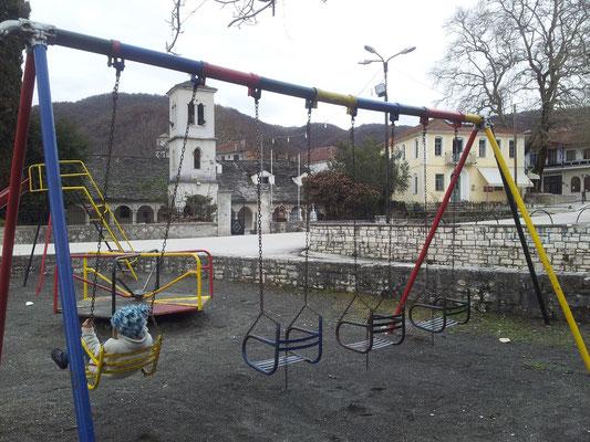 Der Spielplatz - auch hier blieb irgendwie die Zeit stehen...